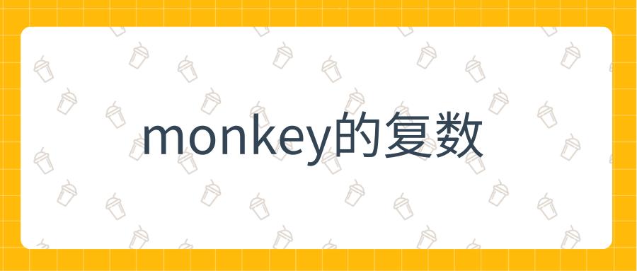 monkey的复数