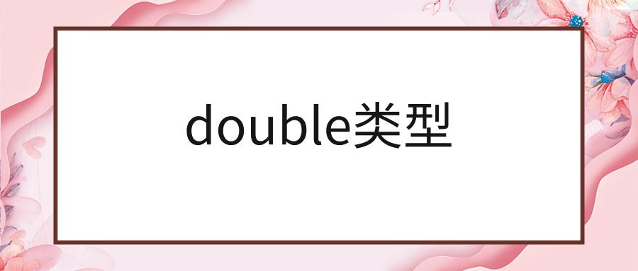 double类型