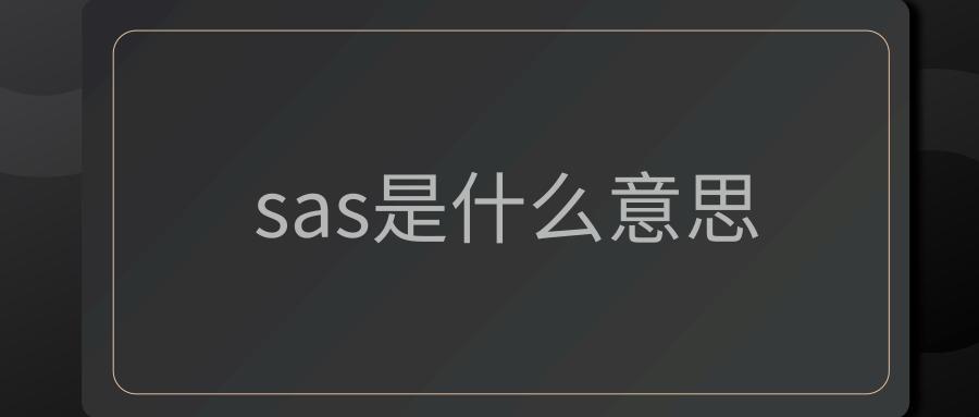 sas是什么意思
