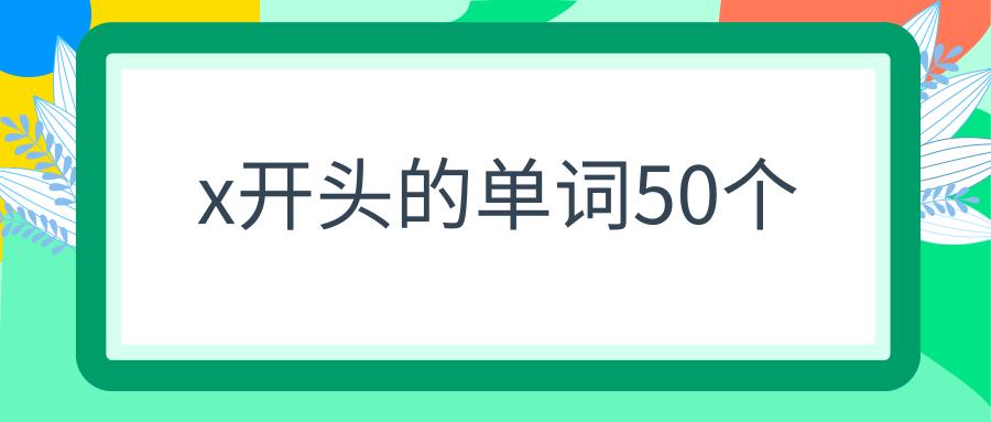x开头的单词50个
