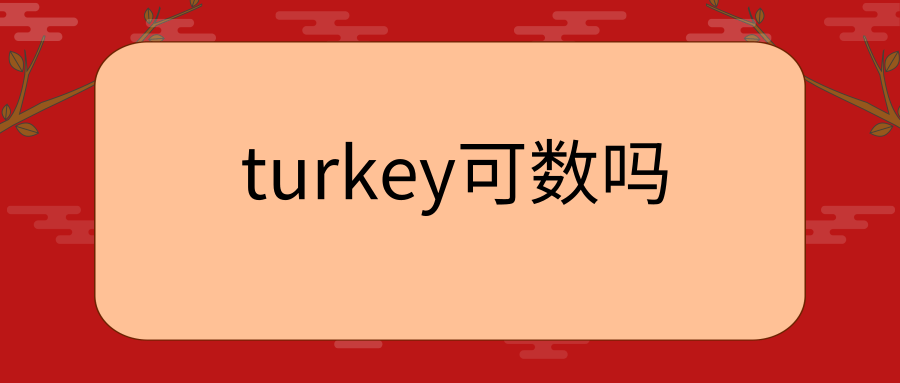 turkey可数吗