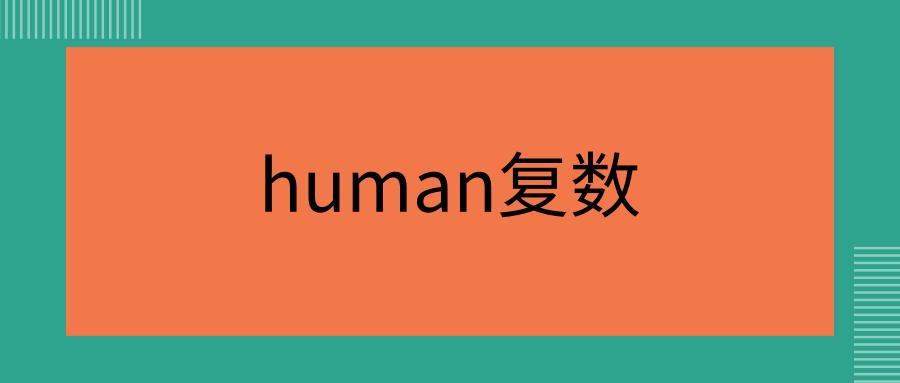 human复数