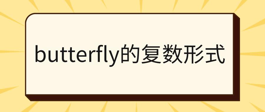 butterfly的复数形式