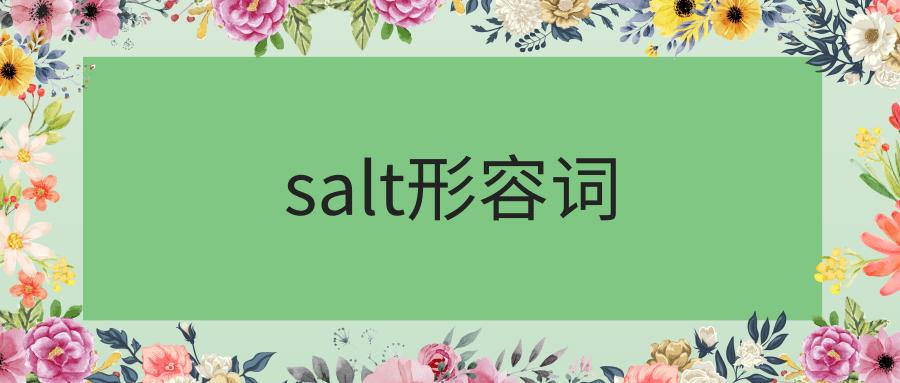 salt形容词