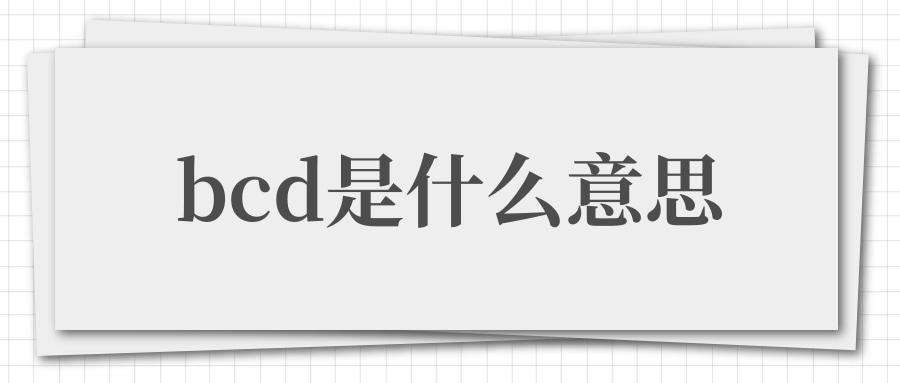 bcd是什么意思