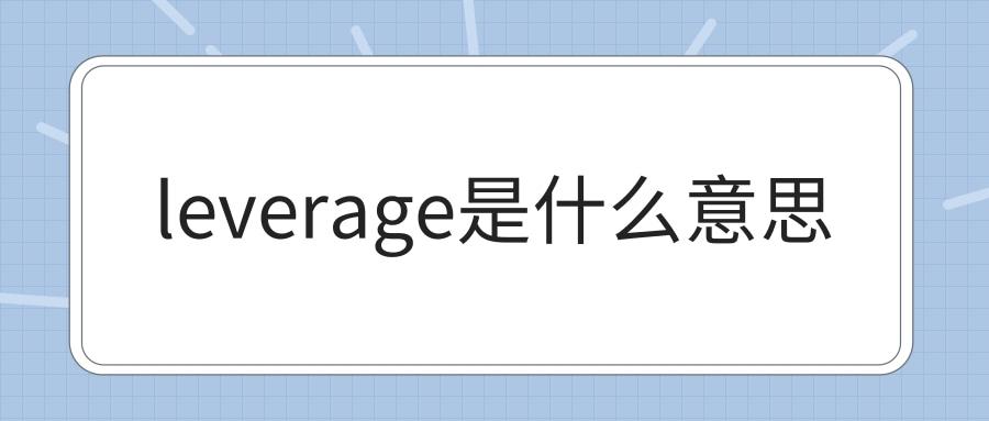 leverage是什么意思
