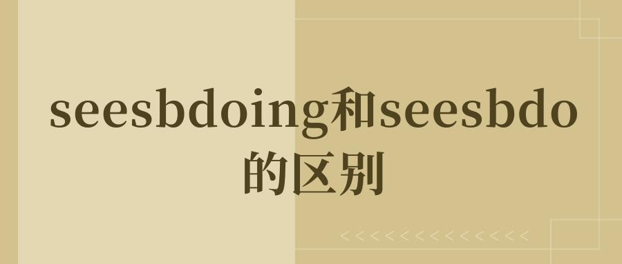seesbdoing和seesbdo的区别