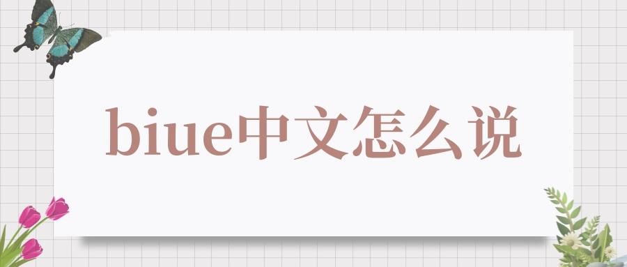 biue中文怎么说