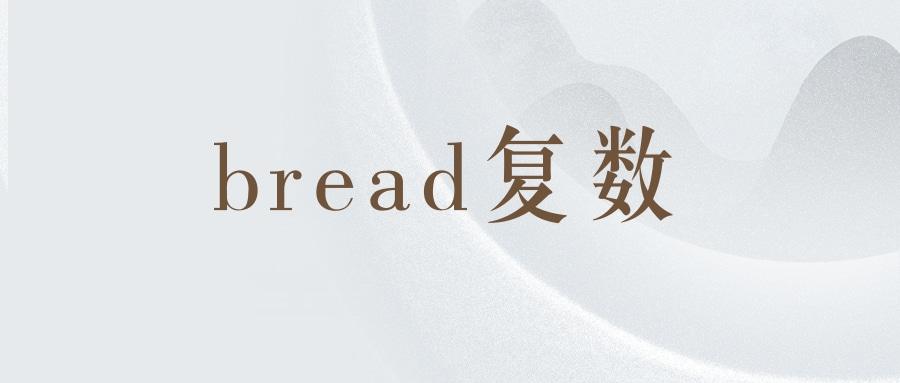 bread复数