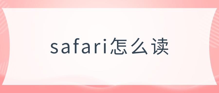 safari怎么读